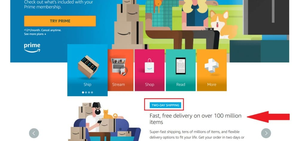 FREE Two-Day Shipping with Amazon Prime